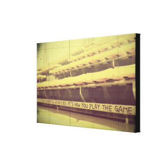 Olympics Inspiration Its How You Play the Game 2 Canvas Print