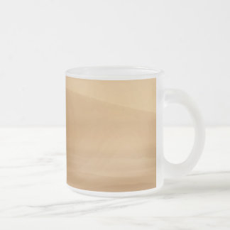 Olympus Mons Frosted Glass Coffee Mug