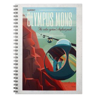Olympus Mons Retro Martian Tourist Notebook