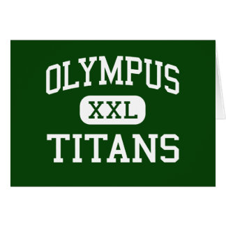 Olympus - Titans - High - Salt Lake City Utah Greeting Cards