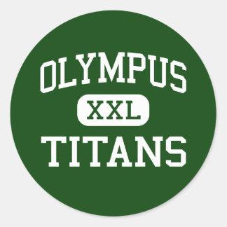 Olympus - Titans - High - Salt Lake City Utah Round Stickers