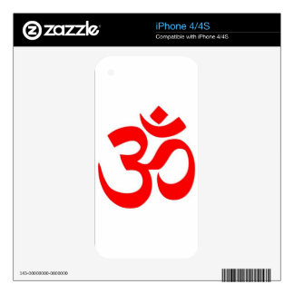 Om (ॐ) - Hindu and Buddhist Symbol Decals For iPhone 4S