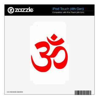 Om (ॐ) - Hindu and Buddhist Symbol Skins For iPod Touch 4G