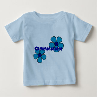 Om and Blue Flower - Baby Yoga Shirt