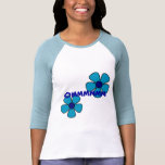 Om and Blue Flowers - Yoga Shirts