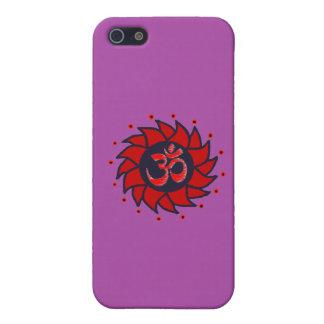 Om and Pinwheel - Purple iPhone Case