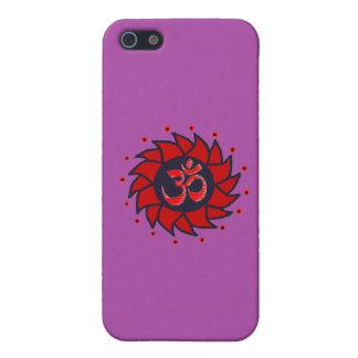 Om and Pinwheel - Purple iPhone Case Case For iPhone 5/5S