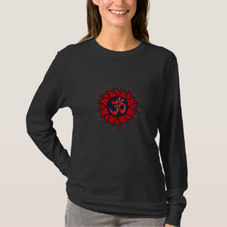 Om and Red Pinwheel - Yoga Shirt
