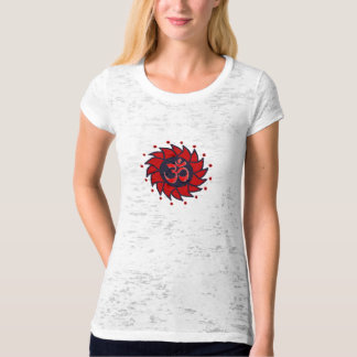 Om and Red Pinwheel - Yoga Tees