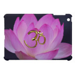 OM and the lotus flower Cover For The iPad Mini