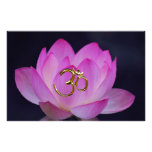 OM and the lotus flower Stationery Design