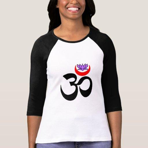 OM artístico - Camisetas de manga larga de la yoga Playera