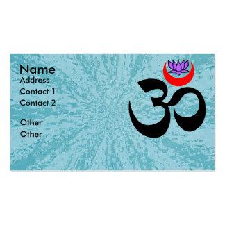 OM artístico - Tarjeta de visita de la yoga