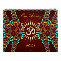 OM Artistry Yoga New Age Meditational Calendar