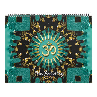 OM Artistry Yoga New Age Meditational Calendars