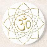 OM AUM ॐ Lotus Drink Coasters