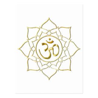 OM AUM ॐ Lotus Postcard