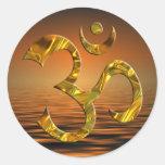 OM / AUM - GOLD | sunset Classic Round Sticker