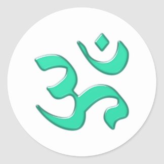 OM Aum holy syllable holy syllable Classic Round Sticker