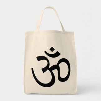 om aum holy symbol Grocery Tote