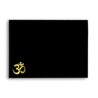Om ( Aum ) Namaste yoga symbol Envelope