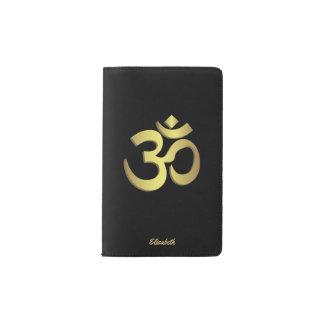 Om ( Aum ) Namaste yoga symbol Pocket Moleskine Notebook