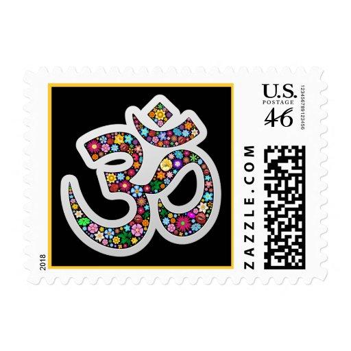 Om Aum Namaste Yoga Symbol postage Stamp