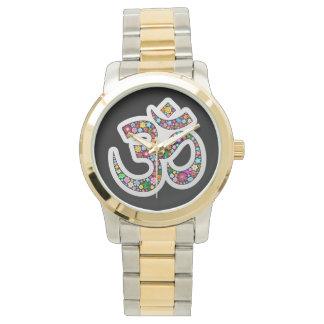 Om Aum Namaste Yoga Symbol watches