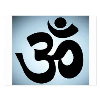 om,aum,sanskrit, mantra, yoga, tantra postcard