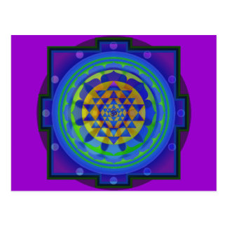 Om (AUM) Yantra mandala Post Card