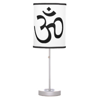 OM Black and White Lampshade Table Lamp