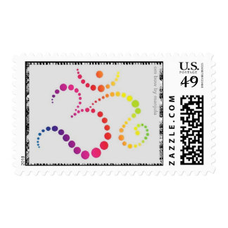 Om Bow Postage Stamps