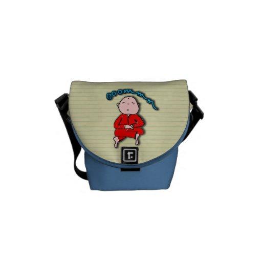 Om Boy in Red Meditation Courier Bag