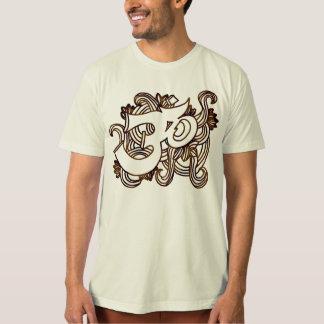 om brown Handsketch T Shirt