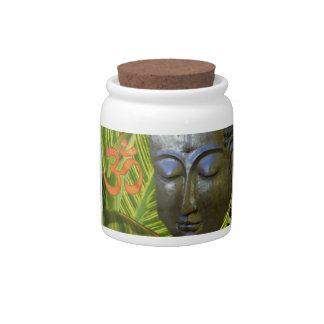 Om Buddha --Candy Jar Candy Dish