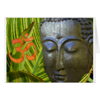 Om Buddha in the total universe of Buddhahood Greeting Cards