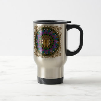 Om Buddha Mandala 15 Oz Stainless Steel Travel Mug