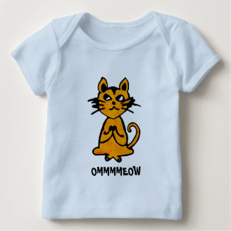 Om Cat - Baby Yoga Clothes Baby T-Shirt