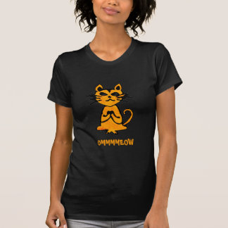 Om Cat - Funny Yoga Tee Shirt (twofer)