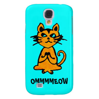 Om Cat - Yoga iPhone Case (blue) Galaxy S4 Cases