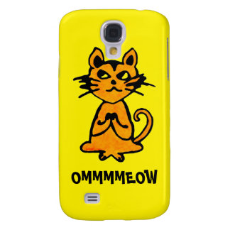 Om Cat - Yoga iPhone Case (yellow) Samsung Galaxy S4 Covers