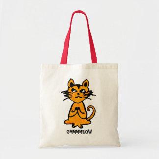 Om Cat - Yoga Tote Bags