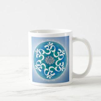Om Circle Snowflake Mandala mug