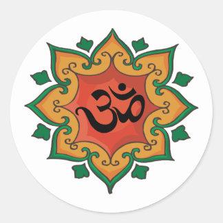 Om Classic Round Sticker