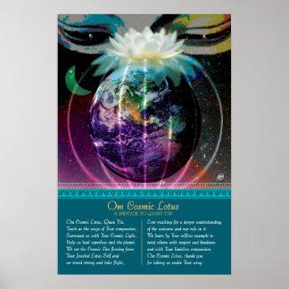 Om Cosmic Lotus Poster