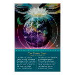 Om Cosmic Lotus Posters