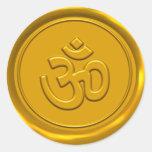 OM de oro encera el sello Etiquetas