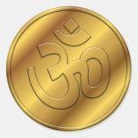 OM de oro Etiqueta
