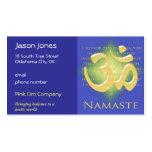 OM en el azul y el oro - Namaste Tarjetas De Visita