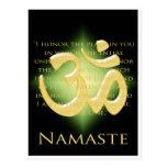 OM en el negro y el oro - Namaste Postales